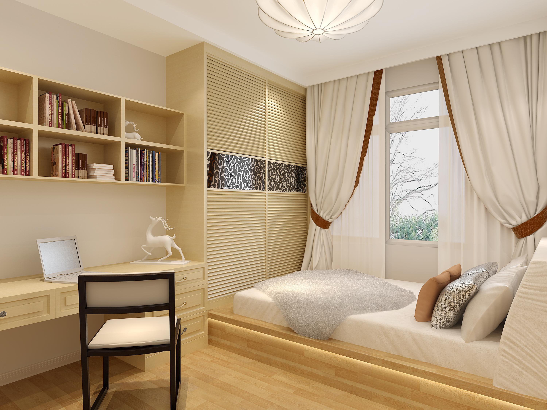 55平米小户型三室两厅装修设计效果图